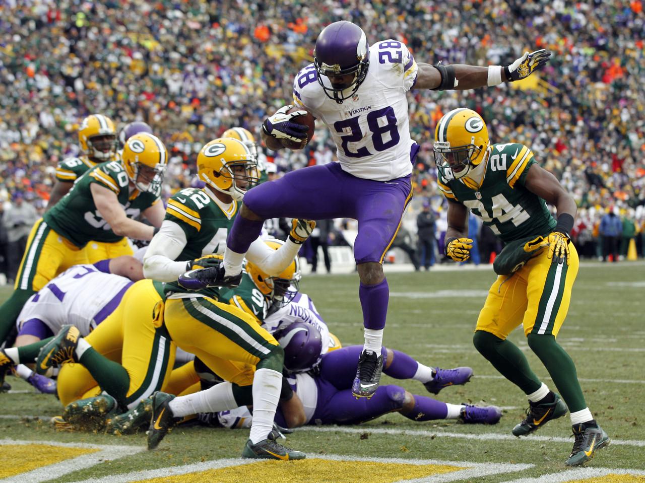 Vikings score TD vs Packers