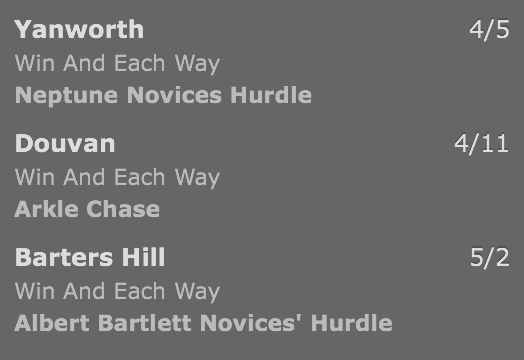 Cheltenham Treble