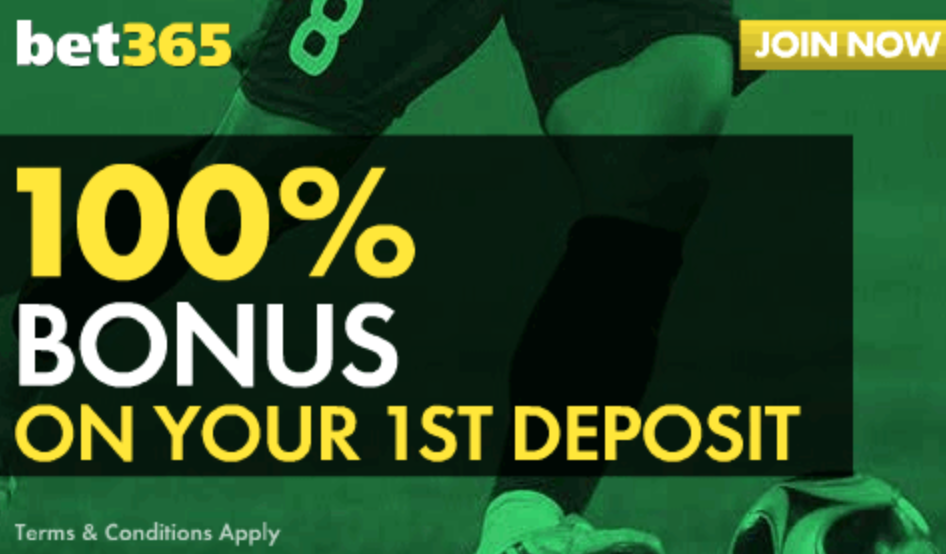 Bet365 100% bonus