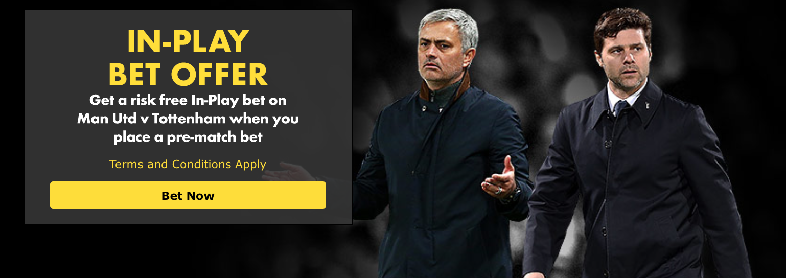 Man Utd vs Spurs Bet365 In-Play offer