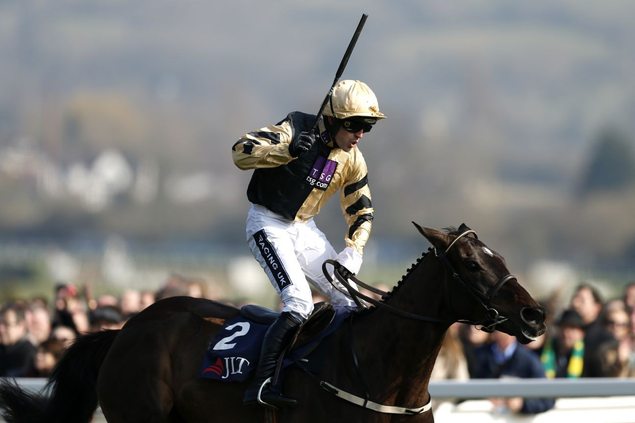 Black Hercules wins the 2016 JLT Novices' Chase at the Cheltenham Festival.
