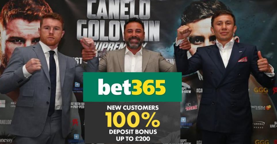 Canelo vs GGG Bet365 100% Bonus