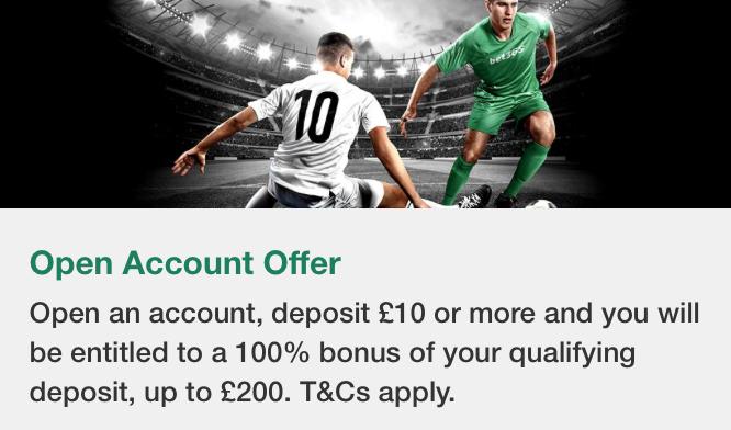 Open Account Offer Bet365